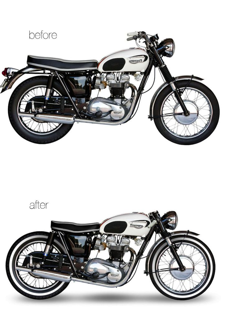 Triumph T120 makes for the perfect cafe conversion!