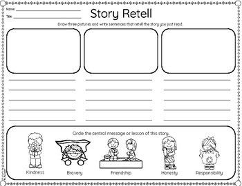 FREEBIE Beginning, Middle, End Retell {Differentiated}