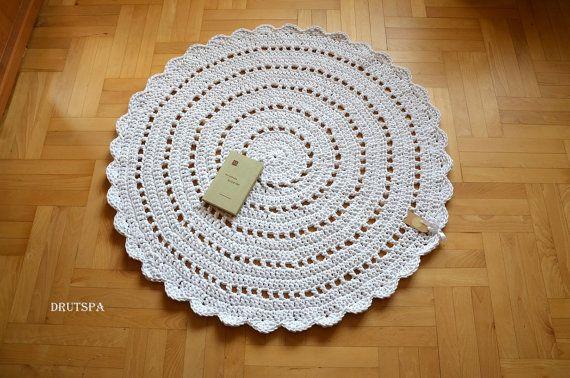 PROMOTION de beaucoup de couleurs tapis Bohème crochet rond napperon tapis tapis tapis boho hippie minable chambre de bébé country sol décoration ménagers rustique