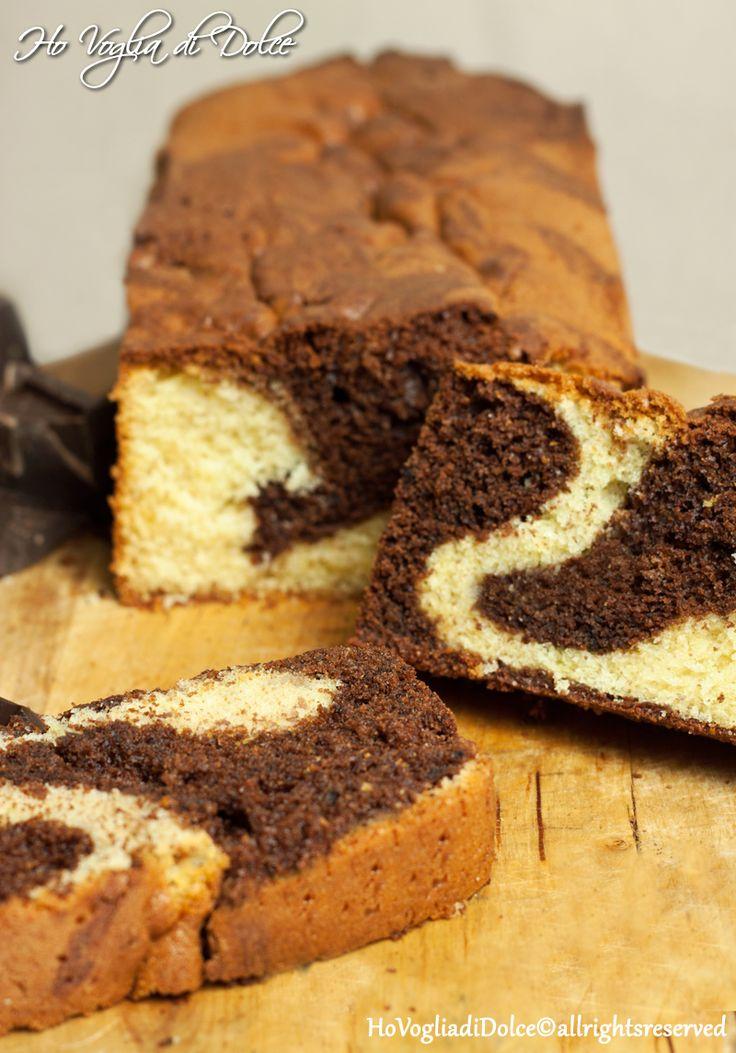 Plumcake marmorizzato, ricetta soffice per la colazione | Ho Voglia di Dolce