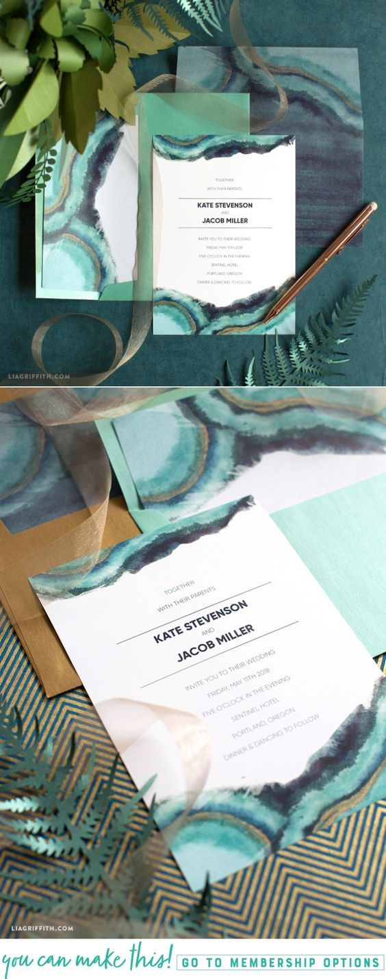 Download and Print a Watercolor Wedding Invitation Suite - Lia Griffith - www.liagriffith.com #diywedding #paper #paperart #printable #printables #diyinvitations #madewithlia