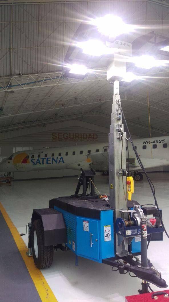 Remolque Torre de Luces para Mantenimiento Aeronáutico - Proyecto para Satena