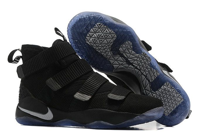 1318d68abe04 Nike Lebron Soldier New Nike LeBron Soldier 11 Black Silver Basketball Shoe  For Sale