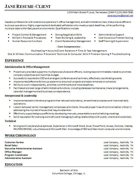 strong headline customer service resume