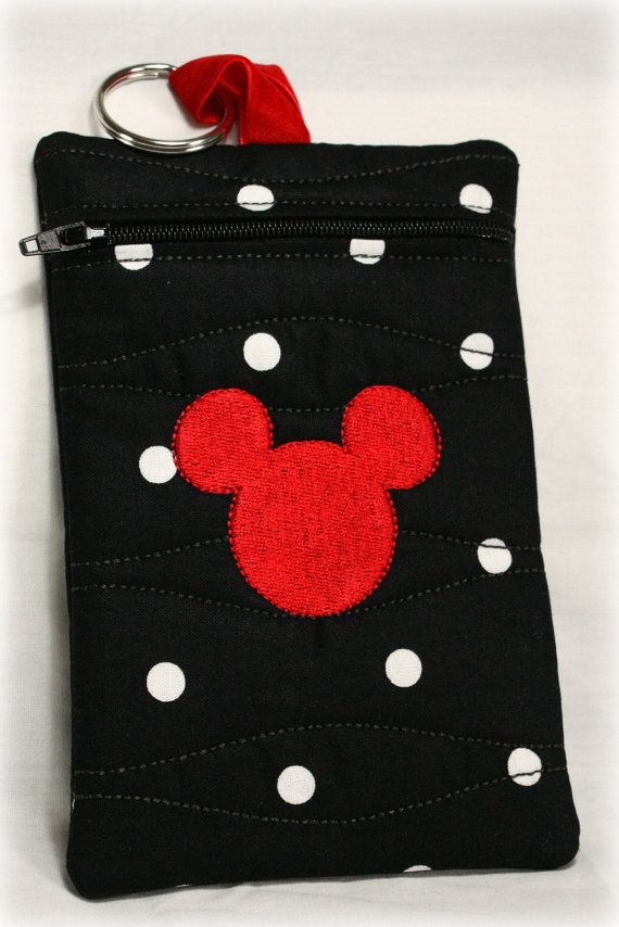 Mickey Mouse Cell Phone Holder/case - black, white, red