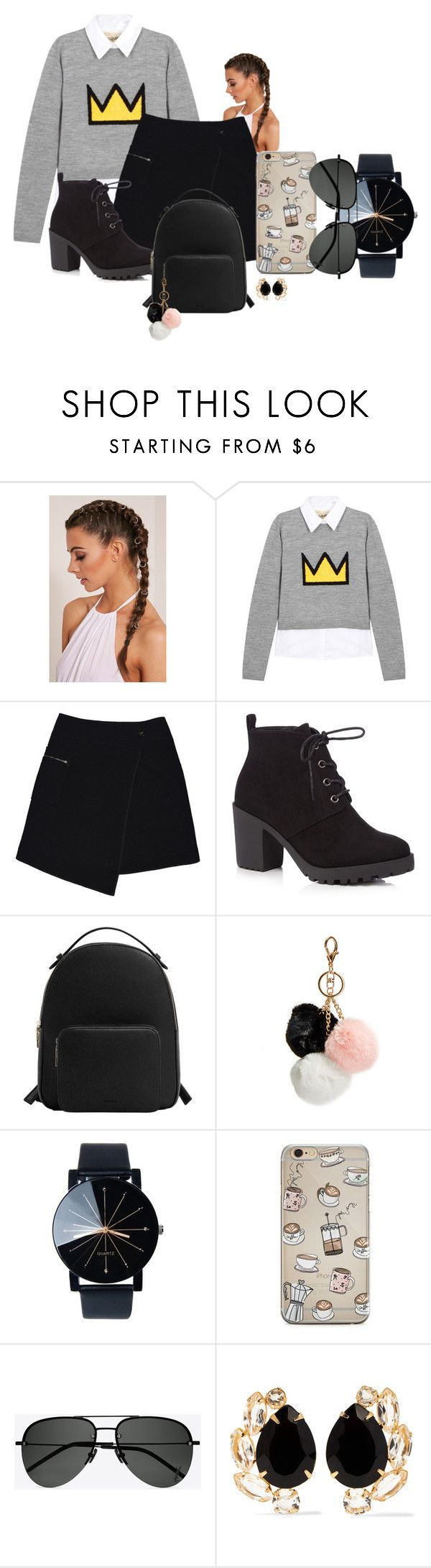 """no description"" by korifashion on Polyvore featuring Alice + Olivia, MARC CAIN, Red Herring, MANGO, GUESS, Yves Saint Laurent and Bounkit"