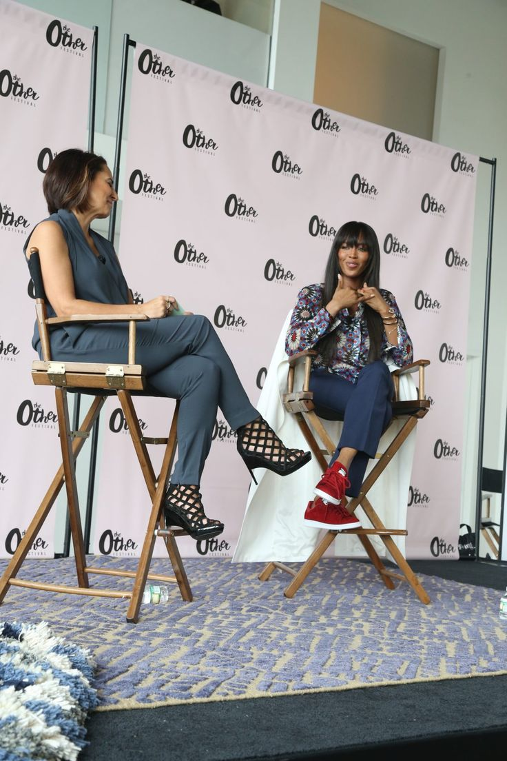 Naomi Cambel with Anee Fullewider - Editor in chief of Marie Claire,