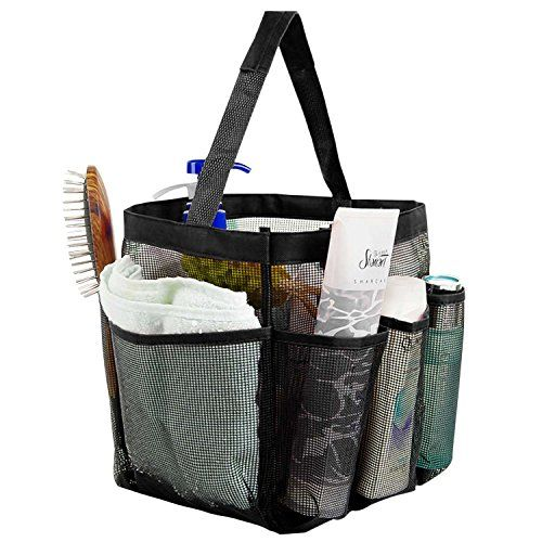 Shower Caddy Tote, Iwotou 8 Pockets High Capacity Quick Dry Hanging Mesh  Bath Toiletry Shampoo Soap Organizer, Portable College Dorms Gym Camp  Travel Tote ...