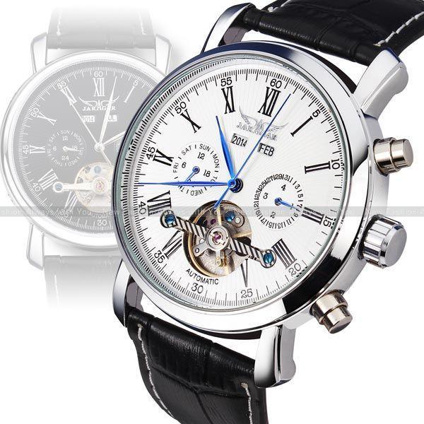 Luxury Watches Men Auto Mechanical Watch Blue Hands Tourbillon Wrist Watch Xmas Gift+Gift Box Swiss/ Sweden Post | Price: US $27.35 | http://BestAli.com/goto/1444315290