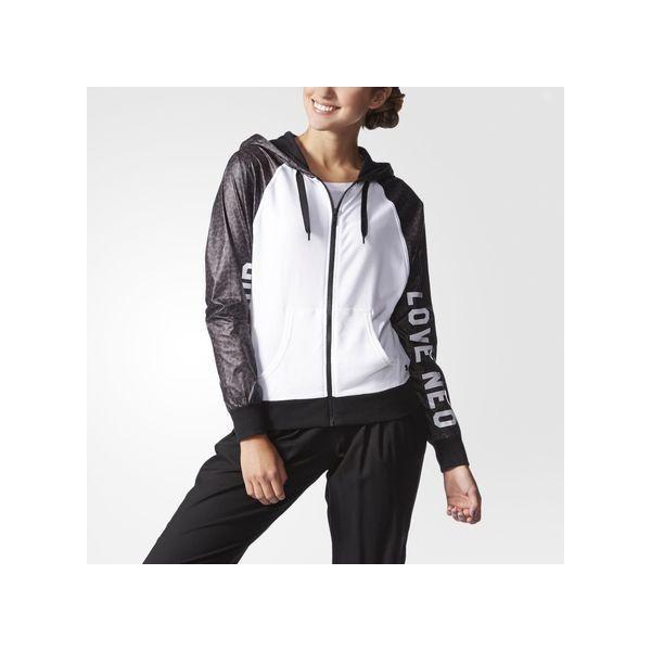 adidas Animal-Print Hoodie ($50) ❤ liked on Polyvore featuring tops, hoodies, white, white hooded sweatshirt, adidas tops, animal print tops, adidas hoodies and hooded sweatshirt