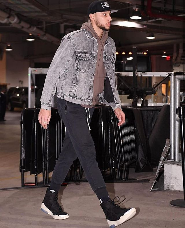 BenSimmons in #Nike Air Fear Of God
