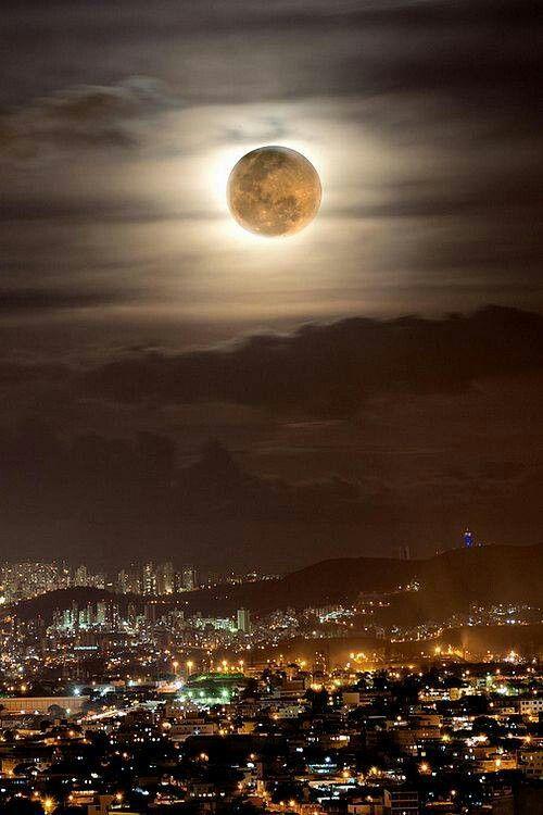 Super moon over Brazil