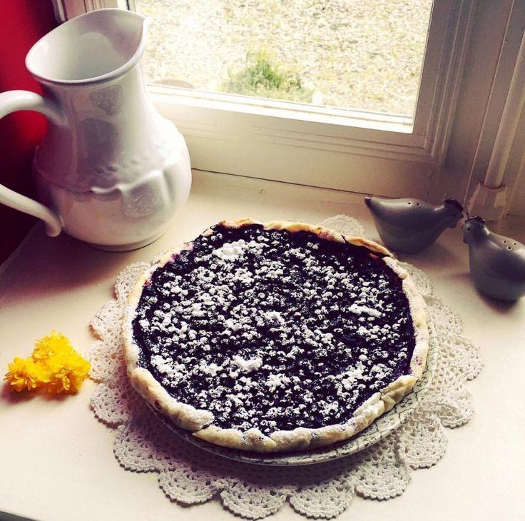 Délicieuse tarte aux myrtilles #passion #patisserie