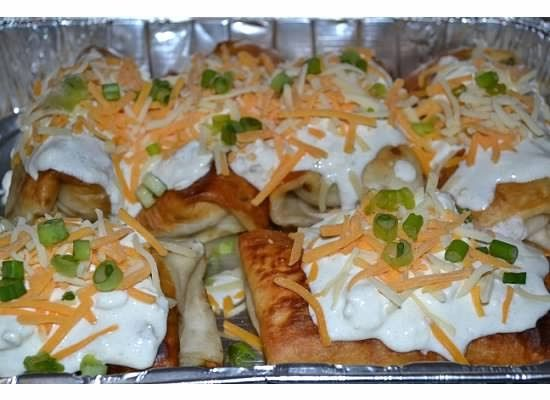 Pollo Fundido- Chimichangas I grew up in Arizona so Mexican food is my favorite type of food. When we were visiting a few years back we a...