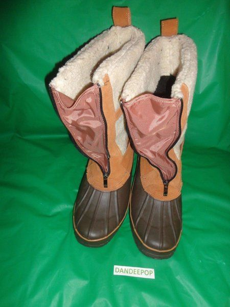 Khombu Exeter 2 Winter Boots 010-060 Size 10M Womens Faux Fur Leather trim Brown #Khombu #Boots #WinterBoots #Exeter2 #dandeepop