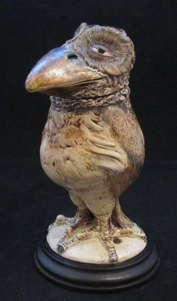 Martin Brothers Bird modelled as an Owl by MARTIN BROTHERS - AD Antiques