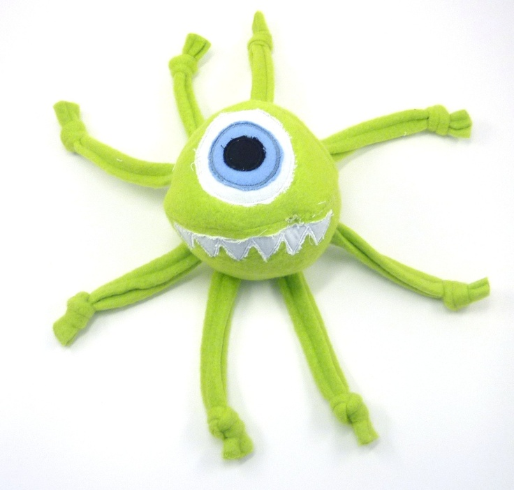 Green One-Eyed Monster - Ideal for Pets -  with Squeaker