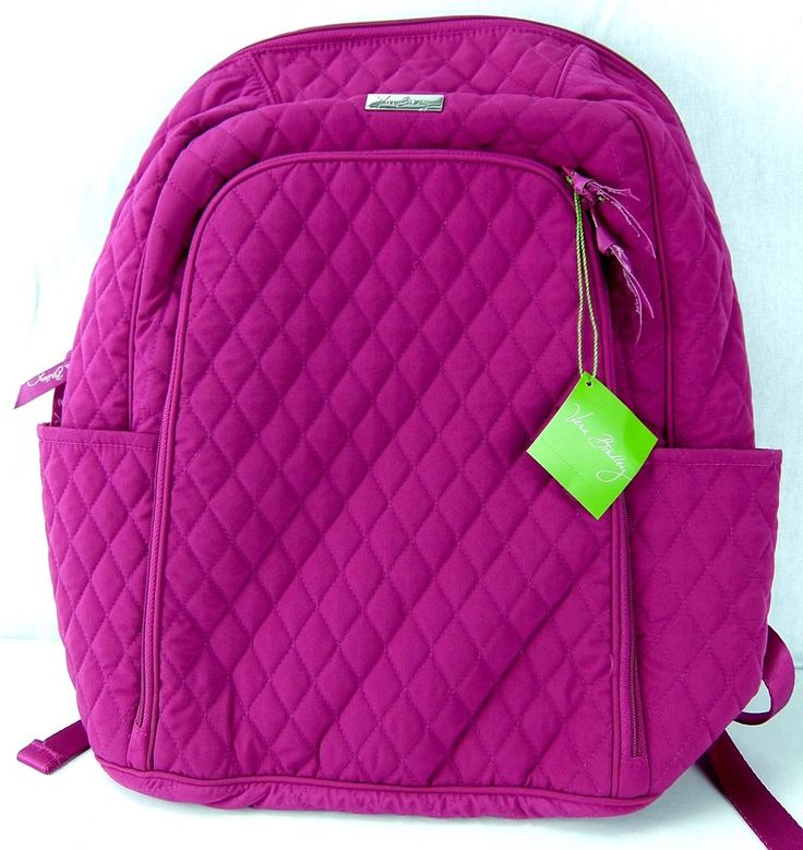 Vera Bradley Laptop BackPack Magenta Pink 15027 NWT #VeraBradley #Backpack