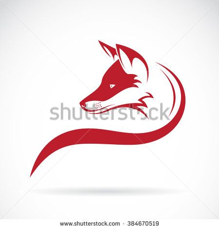 Vector image of an fox head on white background, Vector fox head for your…