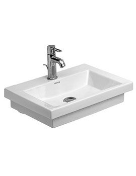 Image Of Duravit 2nd Floor Hand Rinse Basin Without Overflow 500mm   079050