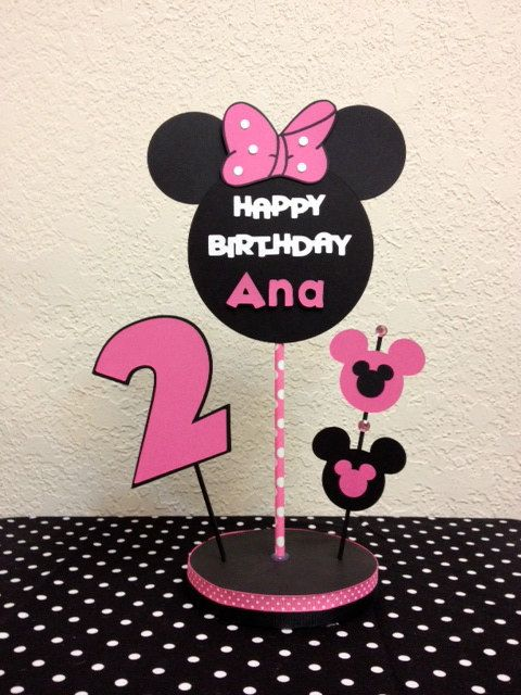 Minnie Mouse Birthday Centerpiece Minnie Centerpiece