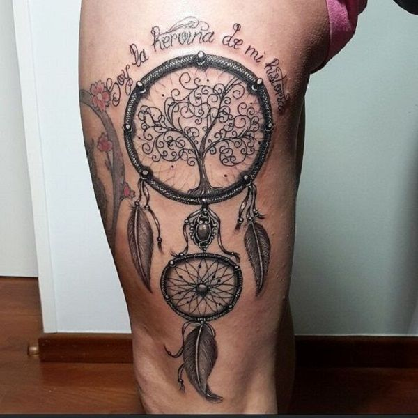 35 Best Beautiful Thigh Tattoos Quotes Images On Pinterest: Best 25+ Dreamcatcher Tattoos Ideas On Pinterest