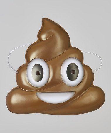 $6.99 marked down from $151 Chocolate Ice Cream Emoji Mask #funny #gaggift #emoji #icecream #poop #sale #zulily #zulilyfinds