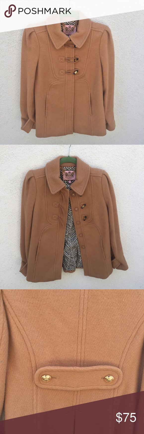 Juicy Couture Brown Trench Coat Jacket Material is pilly. Size Small. Juicy Couture Jackets & Coats Trench Coats