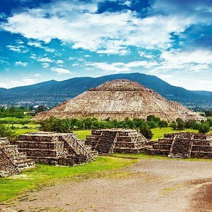   We must go beyond textbooks go out into the bypaths and untrodden depths  of the wilderness and travel and explore and tell the world the glories of our journey.  John Hope Franklin     #Pyramids of the Sun and Moon on the Avenue of the Dead #Teotihuacan ancient historic cultural city old ruins of #Aztec civilization #Mexico    Enter to win 2 tickets to anywhere Delta Flies by using#2016Fallphotocontest or just click the link on our bio.