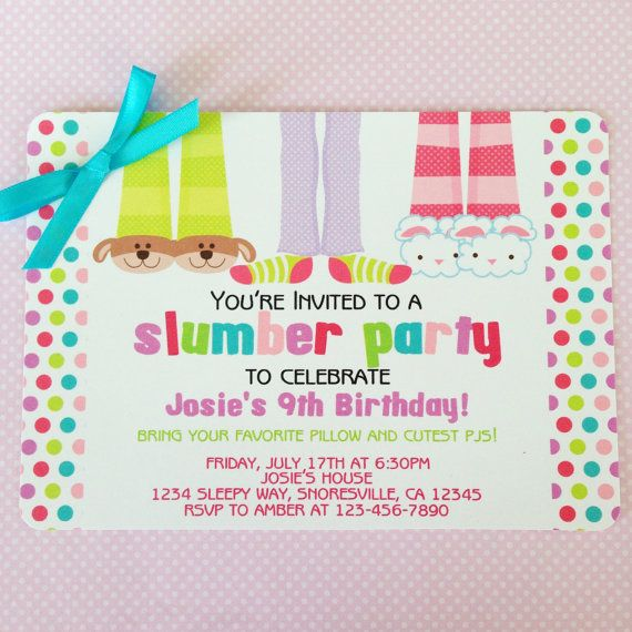 the 25+ best slumber party invitations ideas on pinterest | girl, Party invitations