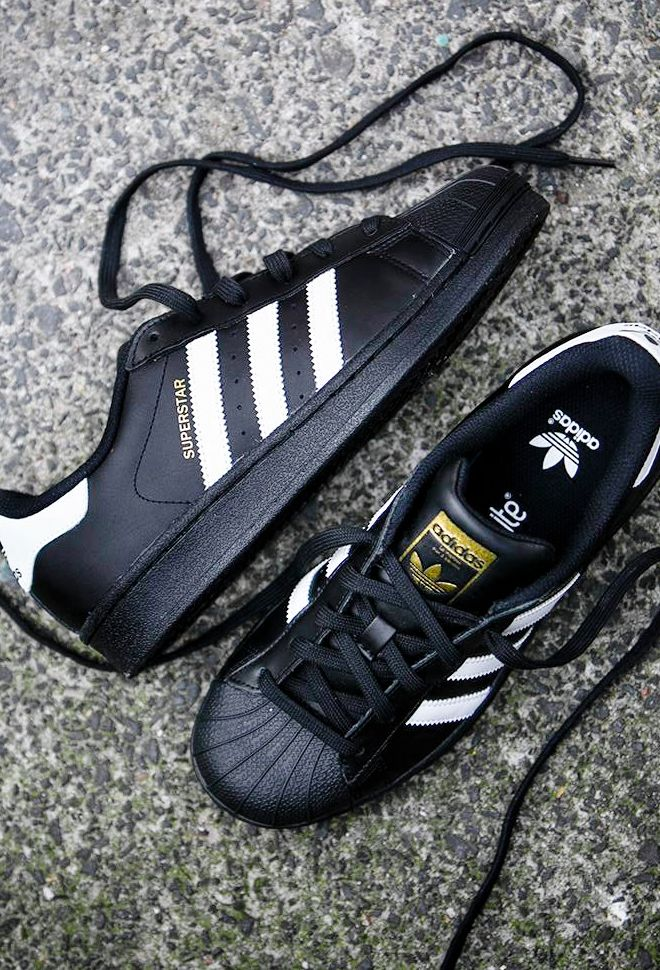 adidas superstar foundation shoes black