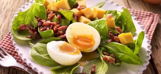 Delhaize - Salade met zachtgekookte eieren
