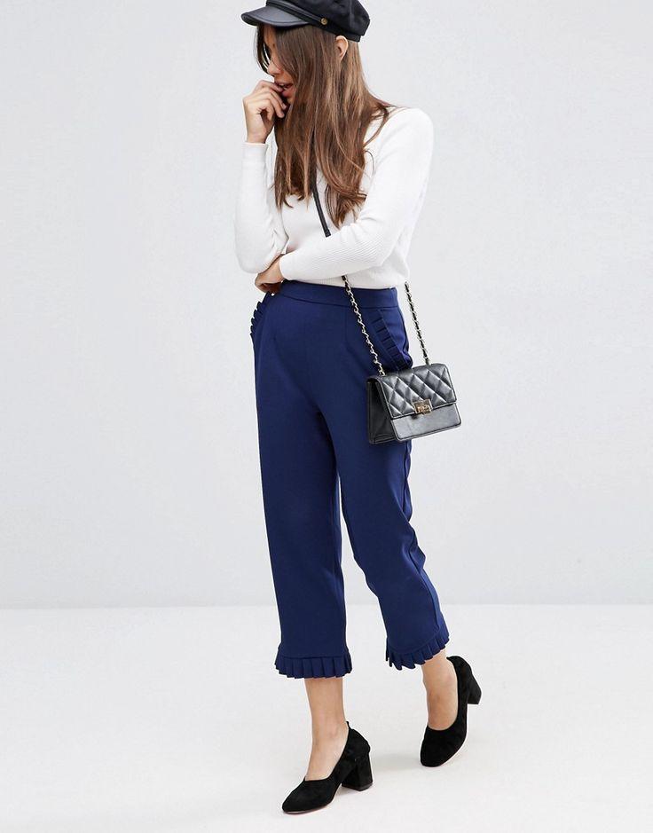 ASOS+Ruffle+Hem+Peg+Trousers