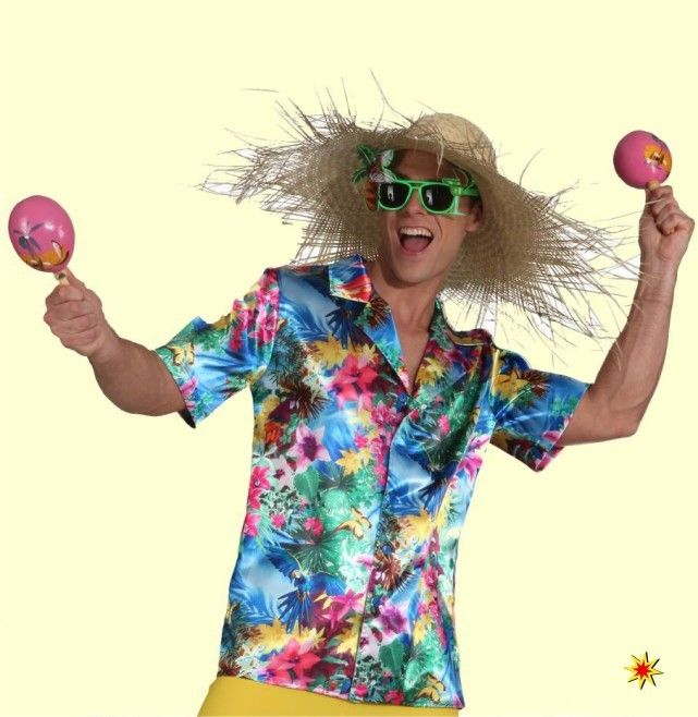 Hawaii-Hemd, Südsee Kostüm, Gr. 46/48 001