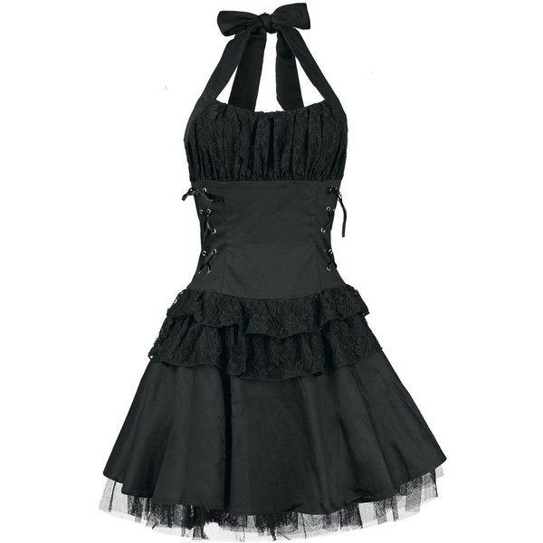 Black Gothic Dress ($59) ❤ liked on Polyvore