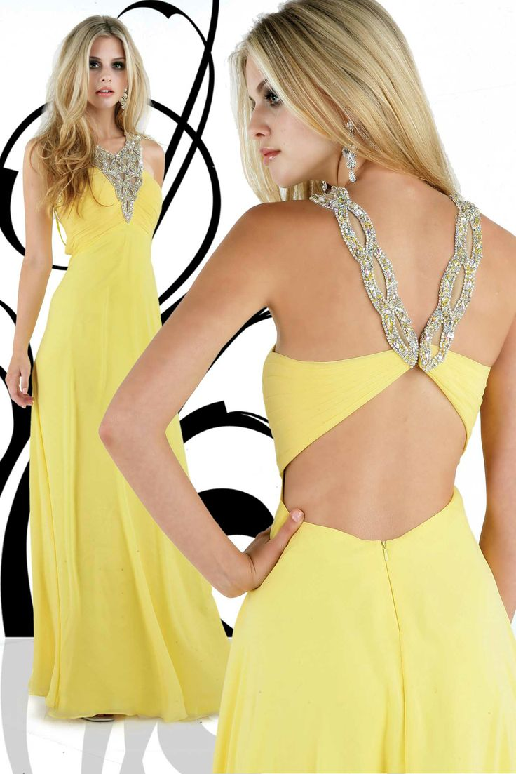 Style A Line V Neck Beading Sleeveless Floor Length Chiffon Prom Dresses Evening