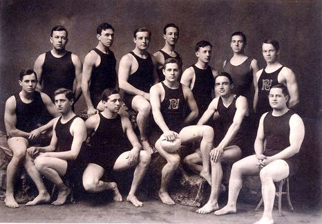 1906 princeton university water polo team vintage - Princeton university swimming pool ...
