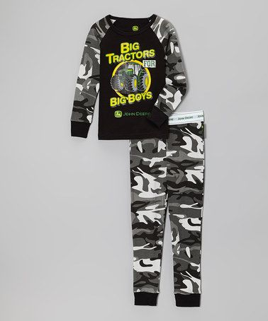 Another great find on #zulily! Black Camo 'Big Tractors' Pajama Set - Infant, Toddler & Boys #zulilyfinds