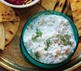 Feta-Dill Dip: Recipes: Self.com : We upped the creaminess factor but not the fat by mixing feta with nonfat yogurt. #SELFmagazine
