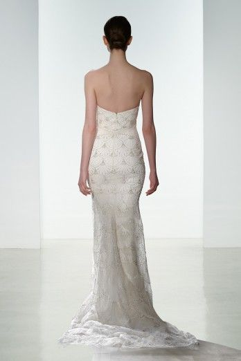 """#KennethPool's exclusive new gown """"Maxine"""" is available June 18-20 at @alexiasbridal during a limited-time-only #TrunkShow ft. the new Spring 2016 Collection. #Maxine is a slim strapless hand beaded gown. Call today 919.829.5900"""