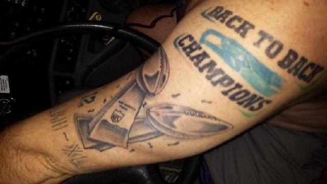 ... Seattle Seahawks Fan Gets Back-to-Back Champs Tattoo   RantSports