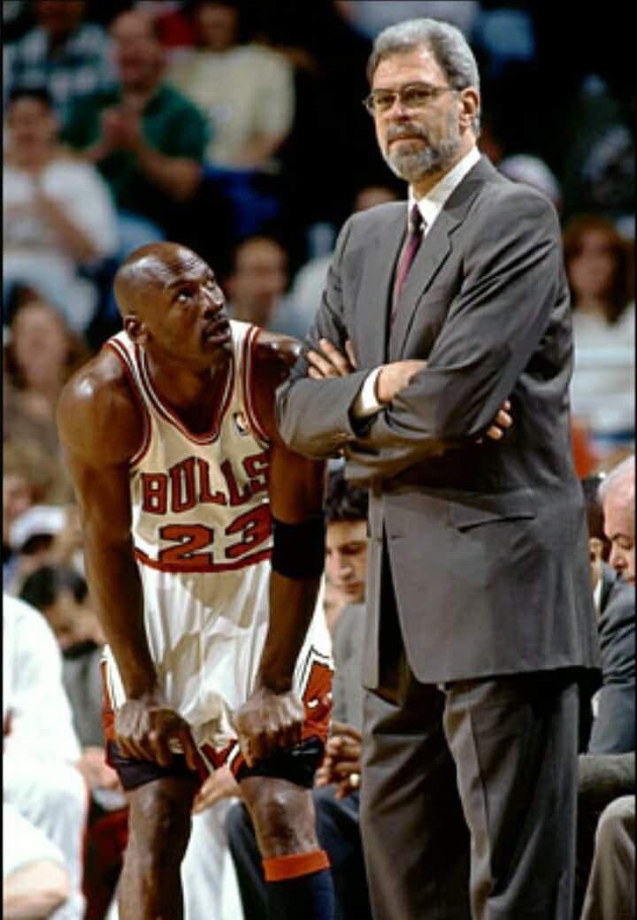 Michael Jordan and Phil Jackson  9c27aa063