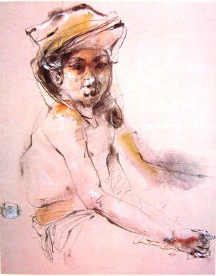 """Ridis"" by Antonio Blanco , Medium: Oil on Canvas, Size: 46cm x 43cm"