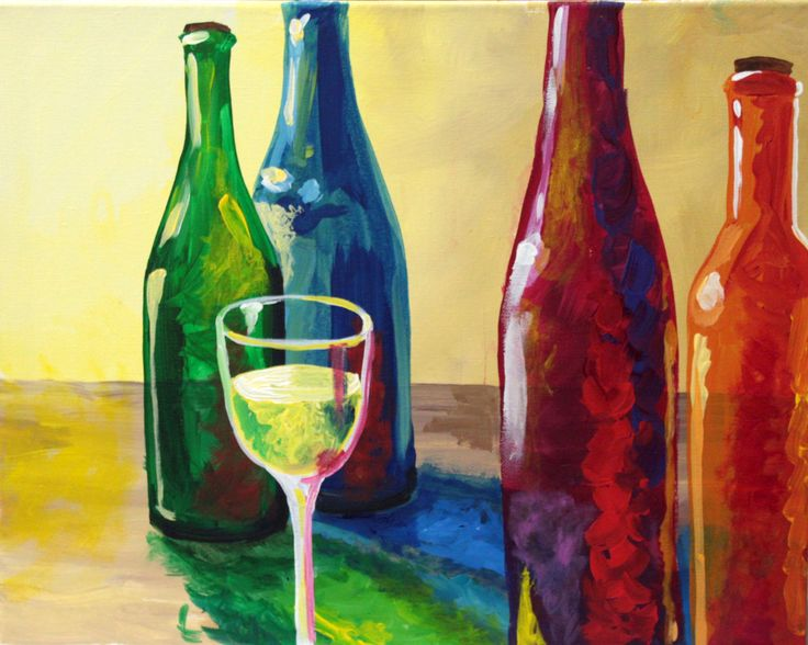 1000 images about wine and canvas on pinterest acrylics for What kind of paint to use for wine bottles
