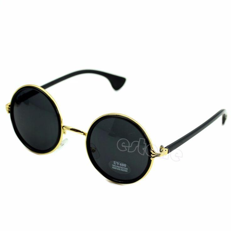 Hot Vintage Steampunk Sunglasses Round Designer Steam Punk Metal Oculos de sol masculino Women Coating Men Retro Sun glasses