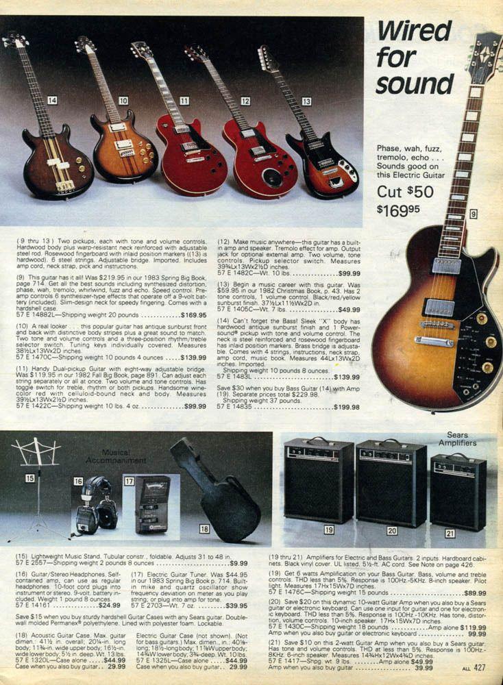 Sears Christmas Wish Book Guitars 1983 Bob S Bored