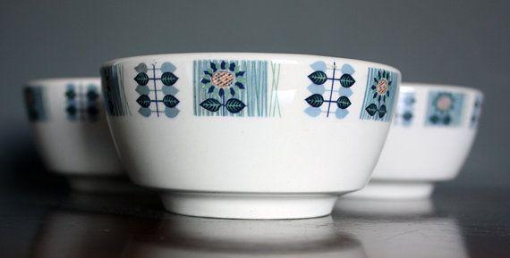 Vintage Grindley 'Bute' Flower Cereal/Soup by janestangerinehouse