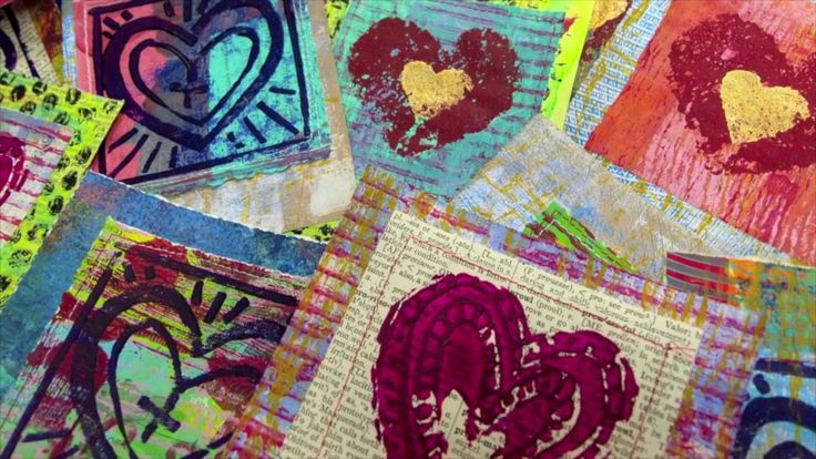 Heaps Of Layered Hand Printed Cards Online Workshop