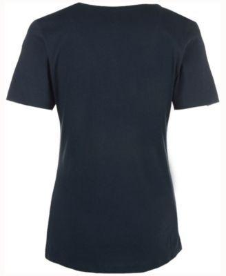 '47 Brand Women's Chicago Bears Lux Sequins Scoop T-Shirt - Blue XL