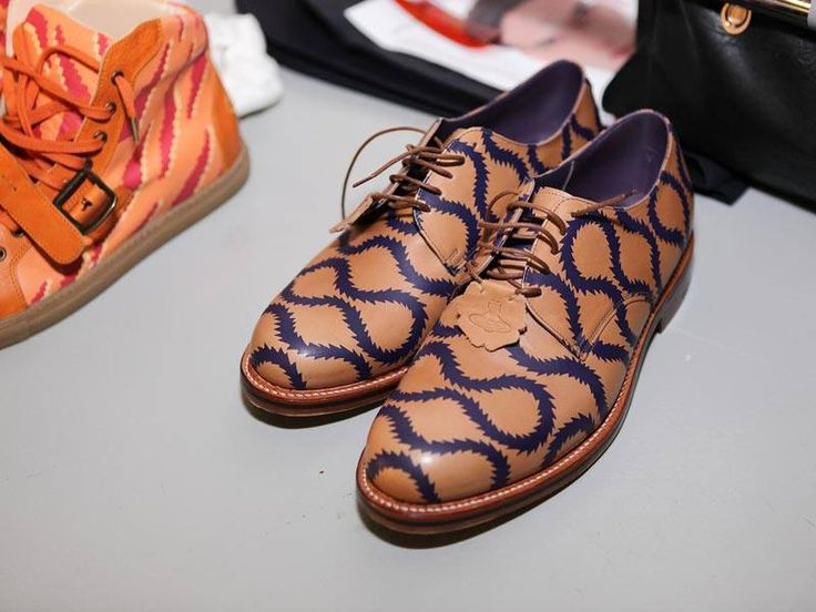 Backstage at Vivienne Westwood MAN SS14 - Squiggle Oxfords.